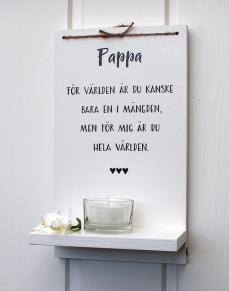 Pappa för världen är du... -