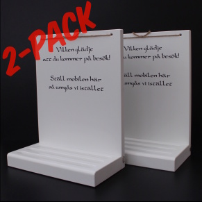 2-PACK mobilhyllor -