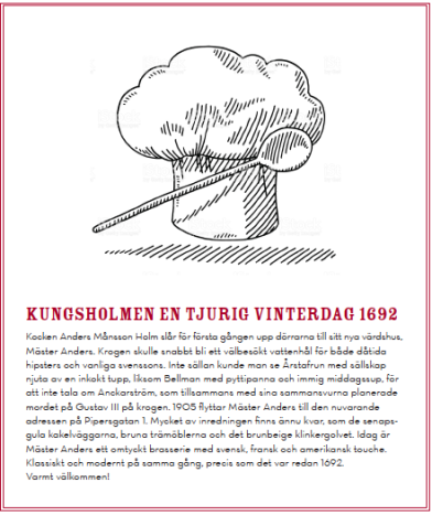Storytelling och matnyttiga texter till en av Stockholms bästa krogar