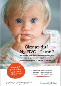 Copywriter till ny BVC i Lund.