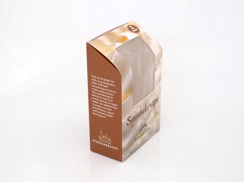 Ny logotyp, design, brödtexter och produktion av semmelförpackningar.