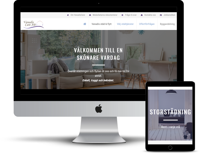 Sökmotoroptimerad text till städ- och byggbolag i Stockholm.