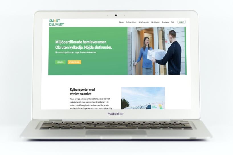 Bilden visar en hemsida med idé och copytext av Ristretto Stockholm