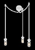 Sladdset Cannonball cluster/3 Vit