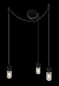 Sladdset Cannonball cluster/3 svart