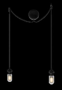 Sladdset Cannonball cluster/2 svart - Sladdset Cannonball cluster/2 svart