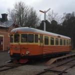 rälsbussen vid hesselby station