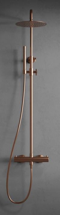 Steel Pleasure 2 Amber - Duschblandare i rostfritt stål