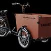 Babboe Dog - Brun låda monterad