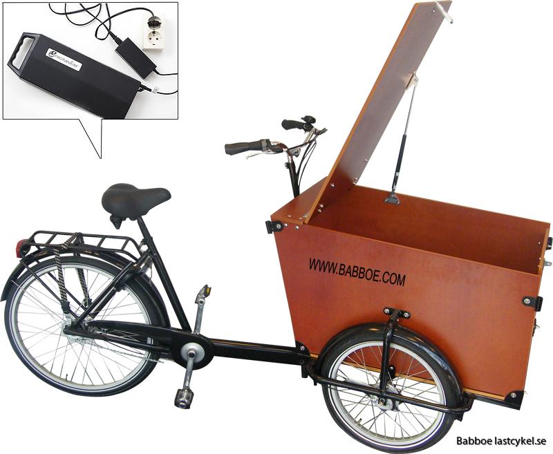 Babboe transporter lastcykel eldriven
