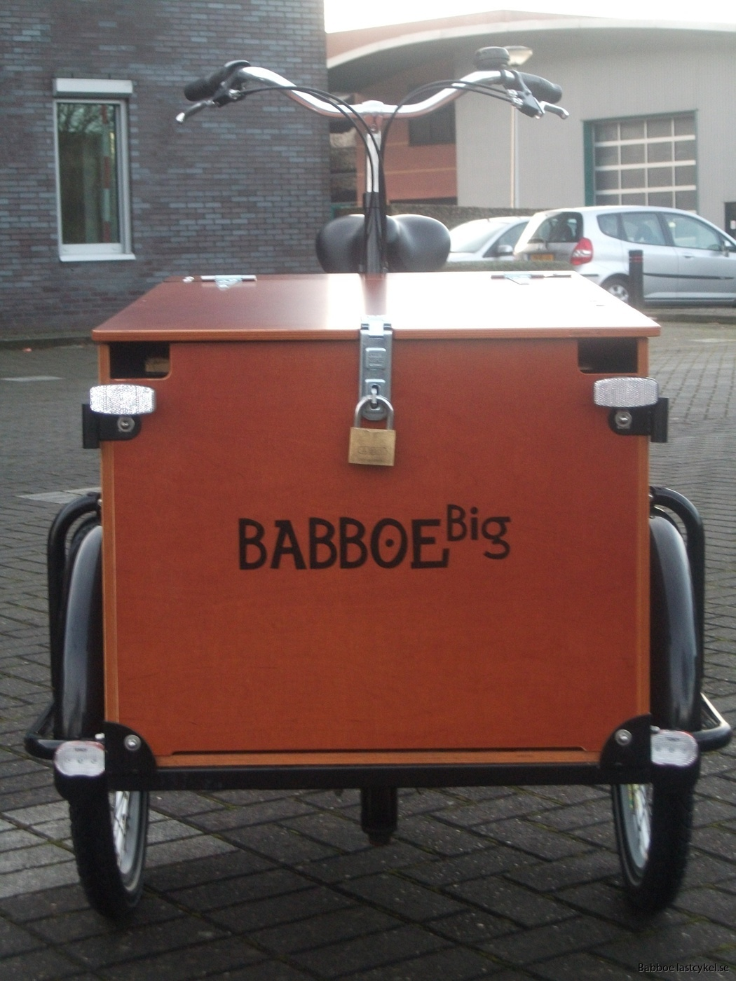 Babboe transporter lastcykel framsida