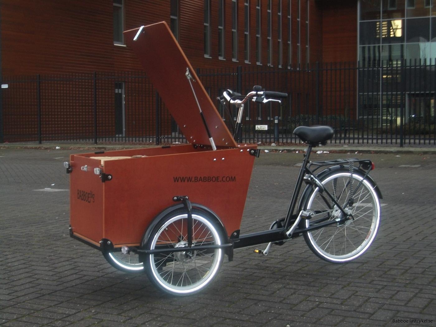 Babboe transporter lastcykel öppen låda