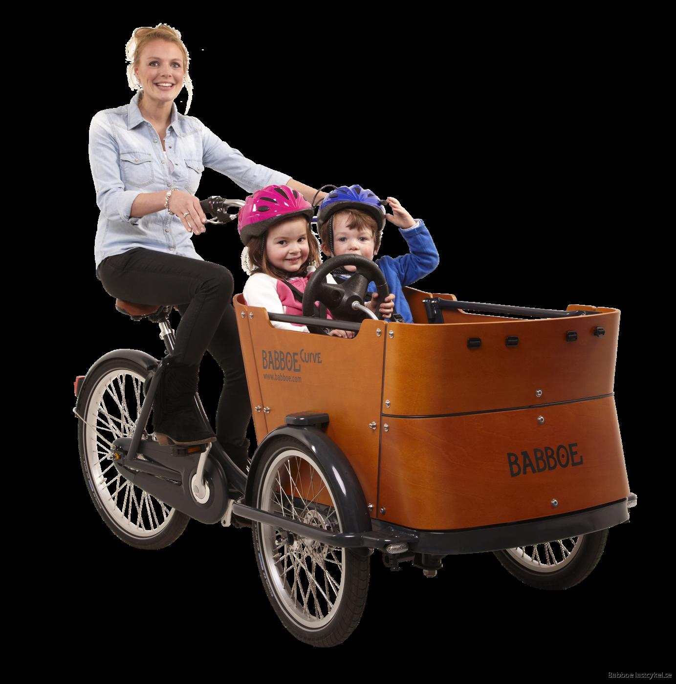 Babboe Curve lastcykel med 2 barn
