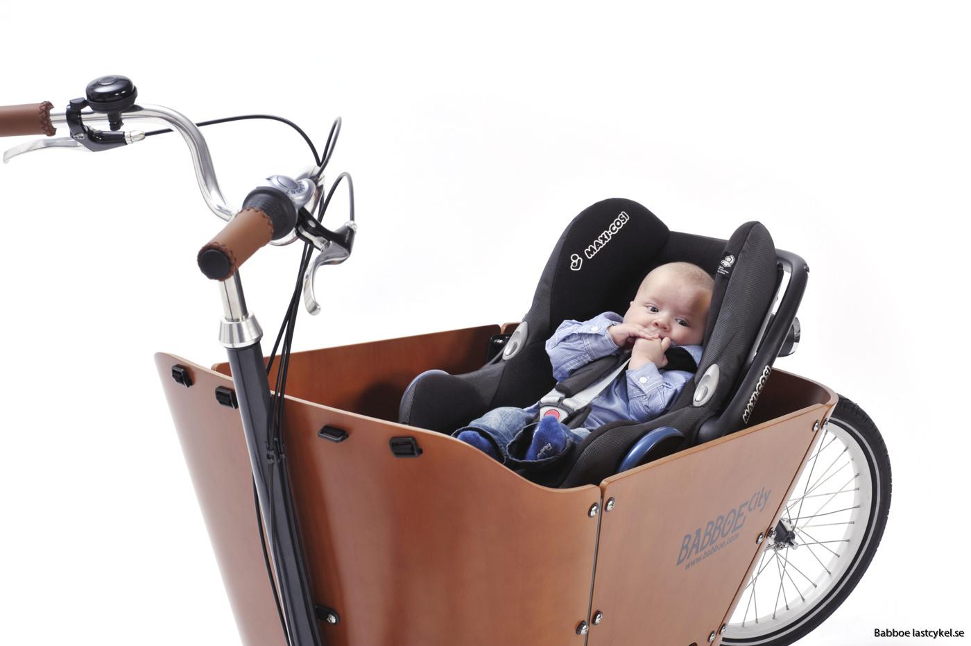 babboe lastcykel bilbarnstol