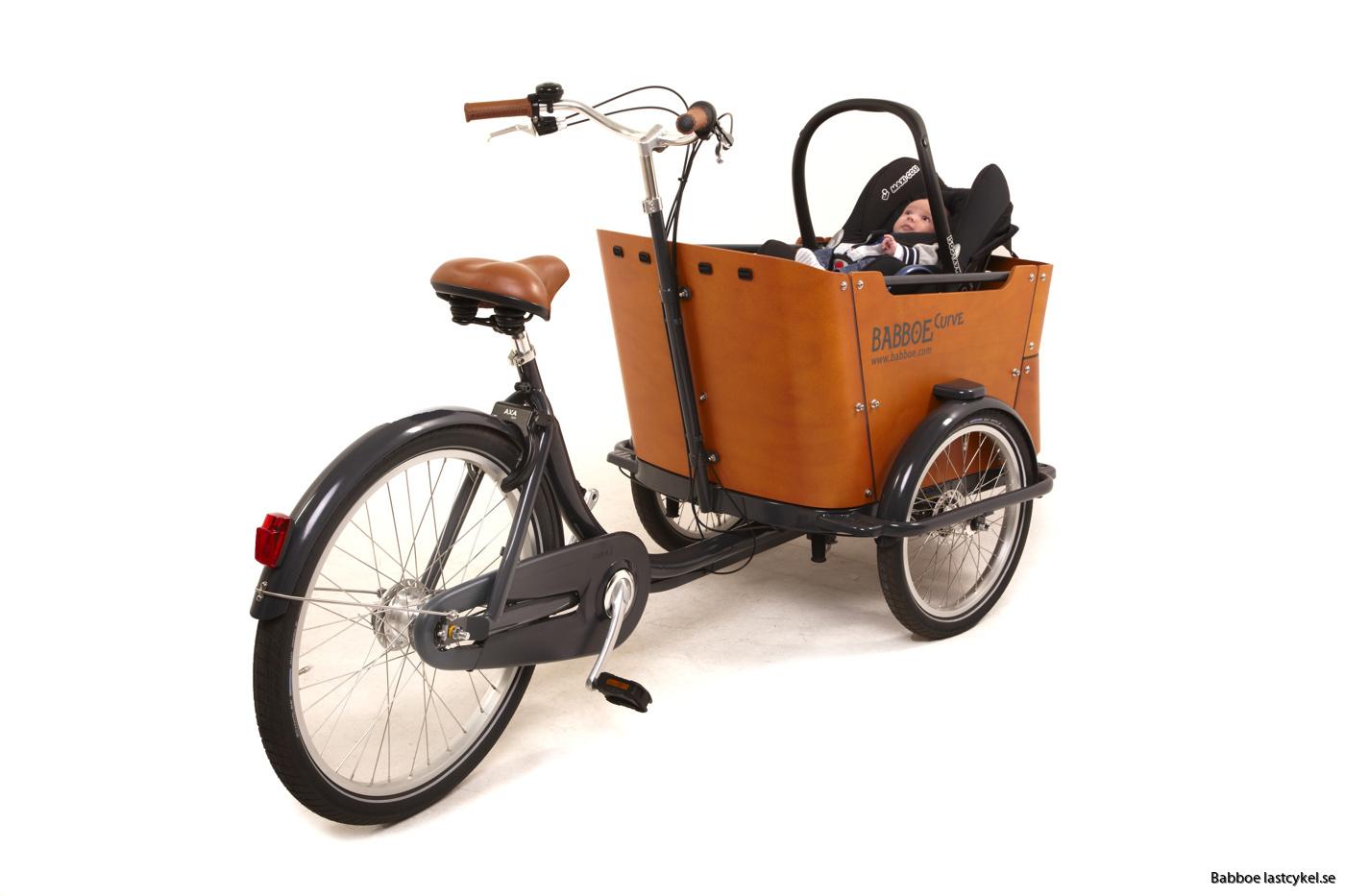 babboe lastcykel bilbarnstol 2