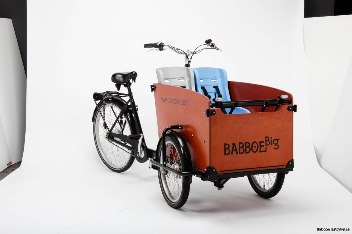 Babboe big med småbarnstol