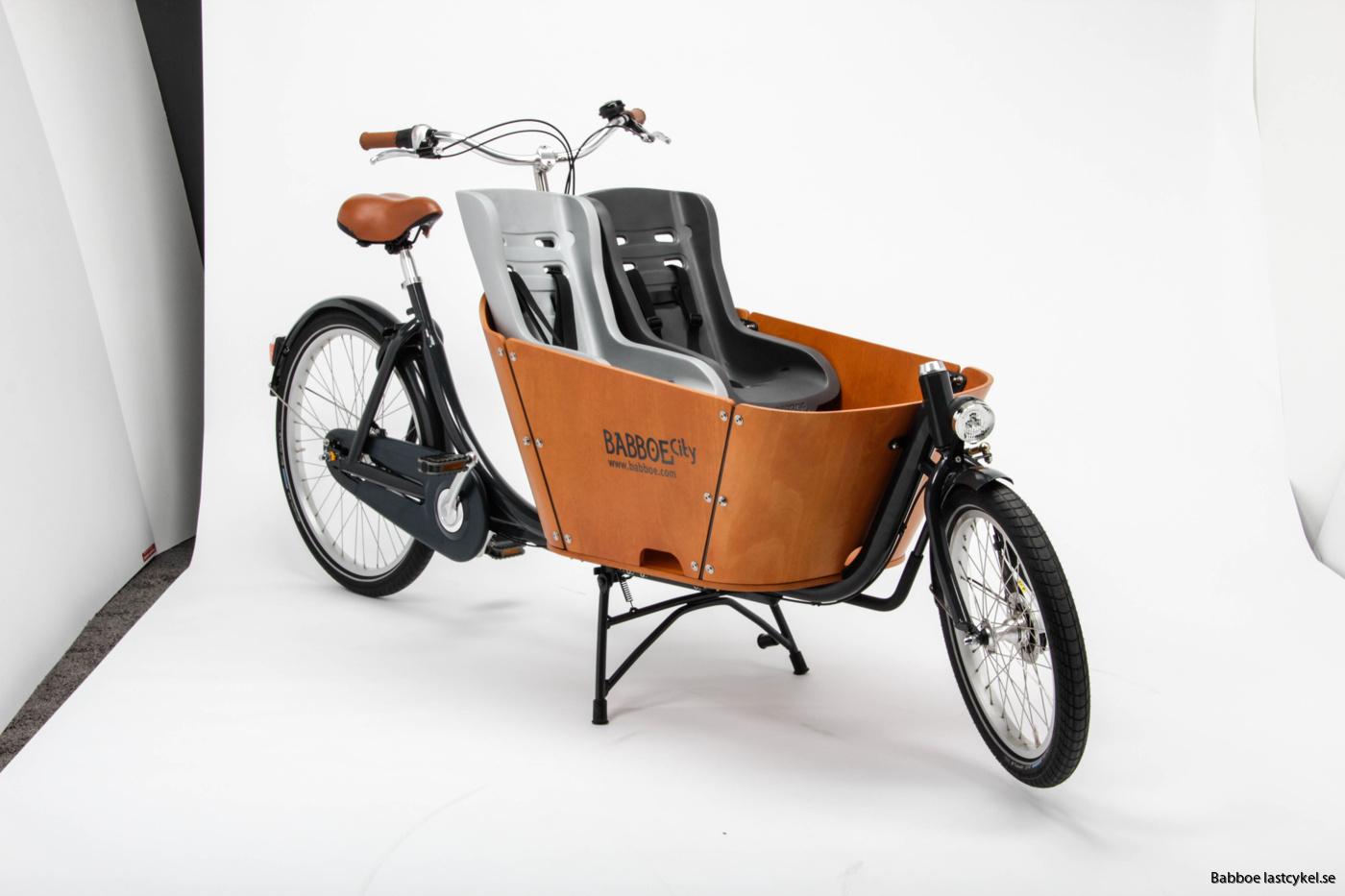 babboe city lastcykel med småbarnstol