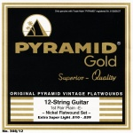 Pyramid Gold 308/12 Flat Wound 12-String Extra Super Light .010-.039