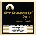 Pyramid Gold 310/12 Flat Wound 12-String Light .010-.0465