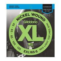 D'Addario EXL165-5 Regular Light Top/Medium Bottom Long Scale 45-135