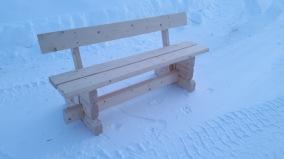 Timrad sittbänk -