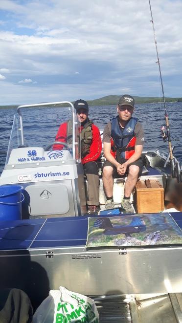 Team SB Mat & Turism på fisketävling i Sandsjön