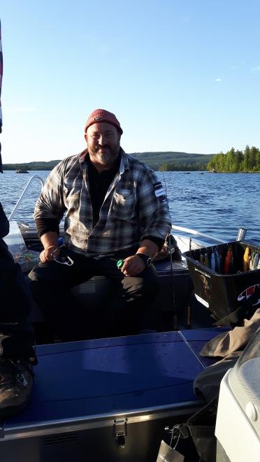 Johan Broman på besök för att producera inför kommande avsnitt av fiskedestination