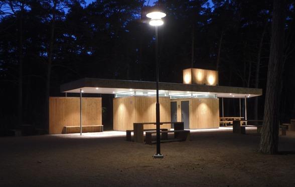 Servicebyggnaden vid Hökafältet Bild Isrenn Arkitekter