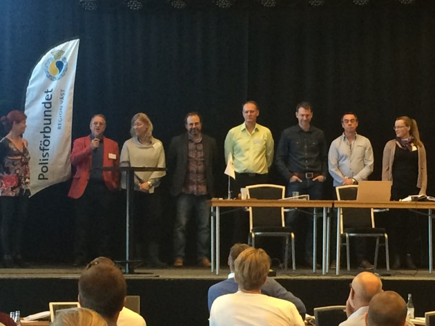 Foto taget av Maria Darholm. Från vänster: Katharina von Sydow, Anders Seilenz, Louise Kristensson, Björn Johnsson, Kent Darrell, Mattias Jönsson , Mats Lundberg och Emelie Risberg.