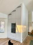 Kök, inbyggda vitvaror under snedtak