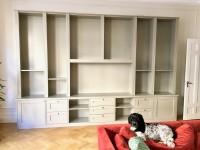 Förvaring, påbyggnad av befintlig underdel med en övre bokhylla
