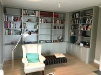 Förvaring, platsmålad bokhylla