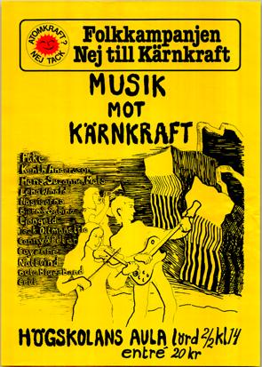 Affisch från konsert 2/2 1980.