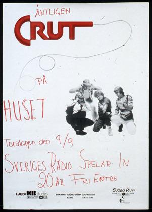 Affisch för spelning på Huset 1982. Ur Mats Danielssons privata samling.