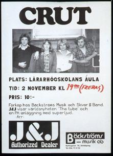 Affisch från spelning 2/11 1979. Ur Mats Danielssons privata samling.