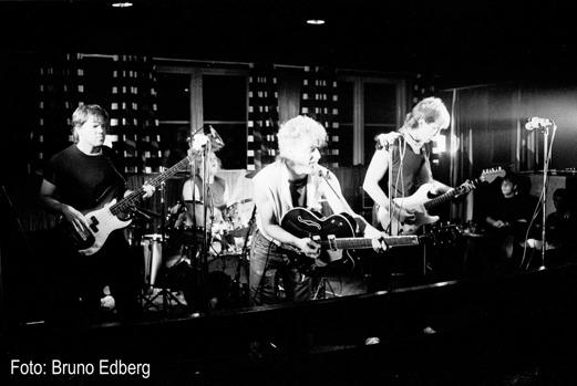 En klassisk upplaga av Crut. Från vänster Staffan Schön, Björn Hansson, Christer Nilsson och Mats Danielsson. Foto: Bruno Edberg.