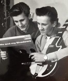 Bröderna Starck - Thomas och Lasse. Foto troligen från 1960.