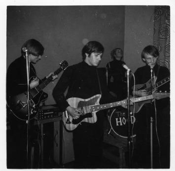 The Spotlights, ca 1963. Jan-Eric, Bengt-Åke, Jörgen och Jan-Åke. Foto från Johanna Leandersson.