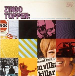 LP:n Zingotoppen (1967) med olika artister.