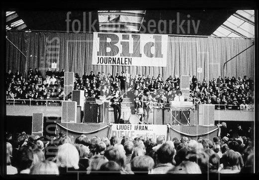 Caretakers som förband till Rolling Stones i Kungliga Tennishallen, Stockholm 1966. Foto: Okänd.