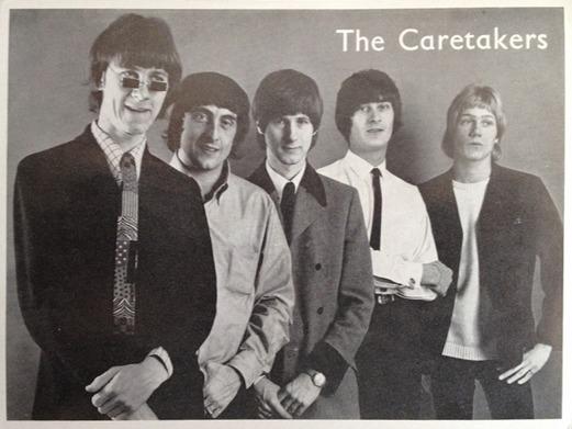 Reklamkort 1966 (el 1967). Gåva till rockarkivet av Roland Lindh.