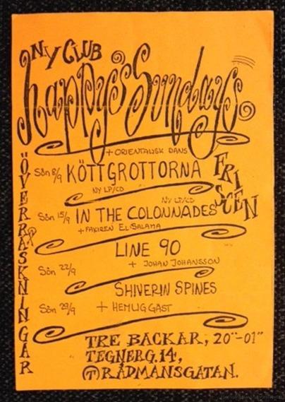 Affisch från spelning i Stockholm.