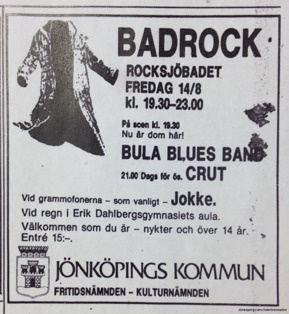 Annons ur Jönköpings-Posten 14/8 1981.