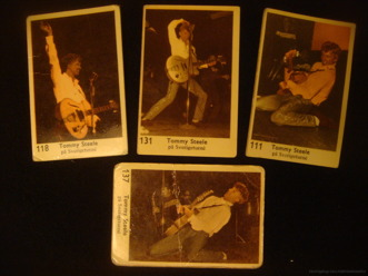Filmstjärnor med den engelske rockaren Tommy Steele - bilderna tagna under hans Sverigeturné.