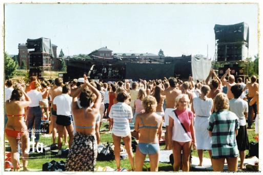 Jönköpings Musikfestival på Rocksjöbadet 1983. Foto: Bosse Andersson.
