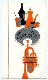 Broschyr från Gasellen, mitten av 1960-talet. Gåva av Lennart Lindberg.