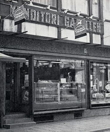 Entrén till Gasellen, Barnarpsgatan 27. Bild ur broschyr från mitten av 1960-talet.