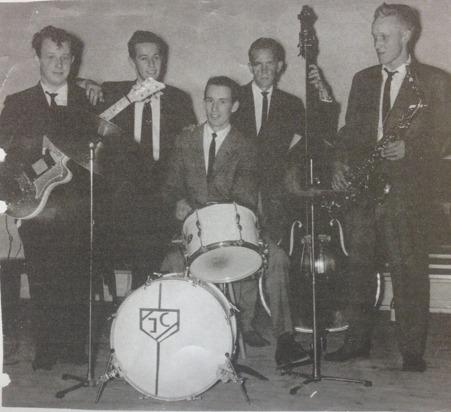 Masens Kvintett, från vänster: Taisto Wesslin, Leif Ekstrand, Jan Carlman, Erling Herman och Kurt Jagborn. Foto från Kurt Jagborn.