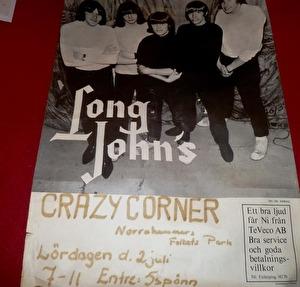 Affisch för Long Johns spelning i Norrahammar 2 juli 1966. Från Annica Albertsson.