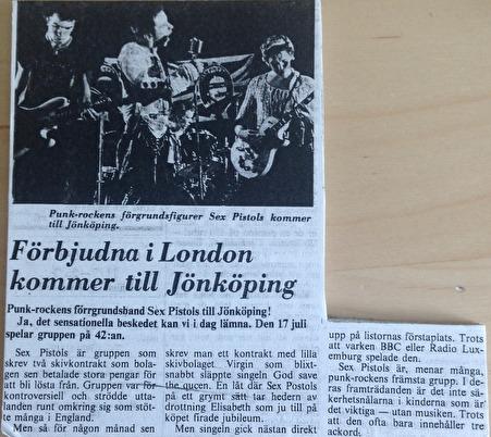 Artikel inför konserten i Jönköping.